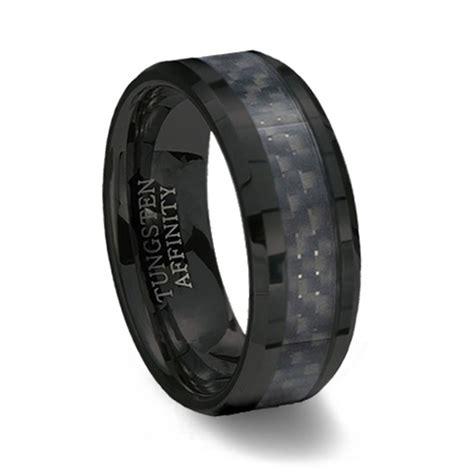 carbon fiber ceramic wedding band black ceramic ring black carbon fiber inlay
