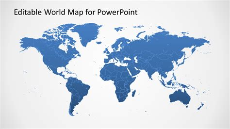 world with continents powerpoint map ppt world map continents
