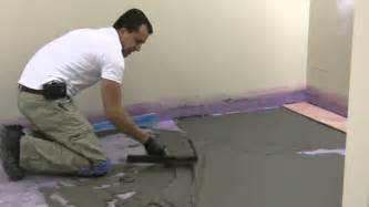 preparing bathroom floor for tiling how to float and prepare floor for tile installation
