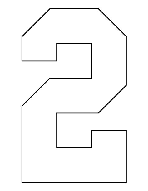 number pattern in js number 2 pattern use the printable outline for crafts