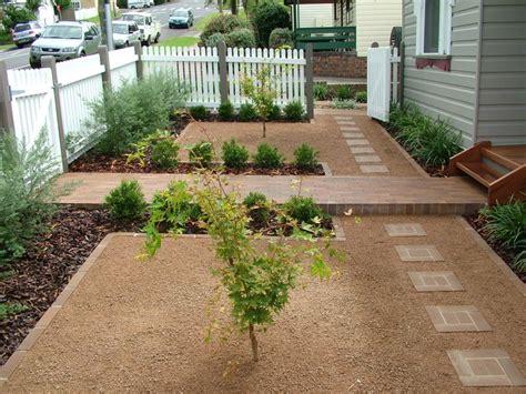 decomposed granite front porch or patio