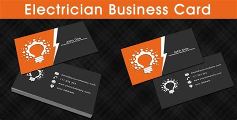 Business Cards Electrical Templates Free by Electrician Business Card Template Business Cards