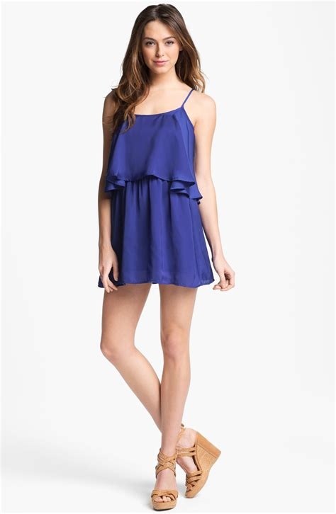 Layer Dress 1 friends friends sunkissed tiered layer dress in blue royal lyst