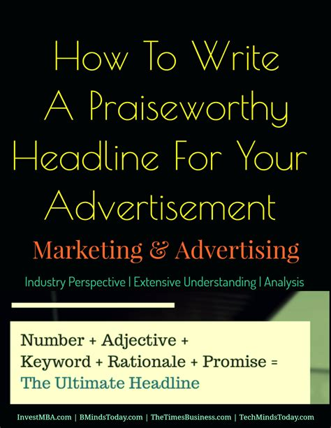 how to write a advertisement template how to write a priceless headline for your advertisement