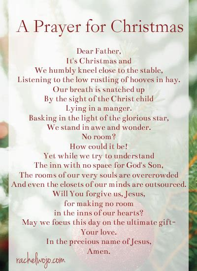 christmas invocation prayer a prayer for day rachelwojo