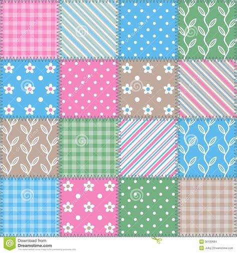 Patchwork Square Patterns - seamless texture square patchwork pattern stock images