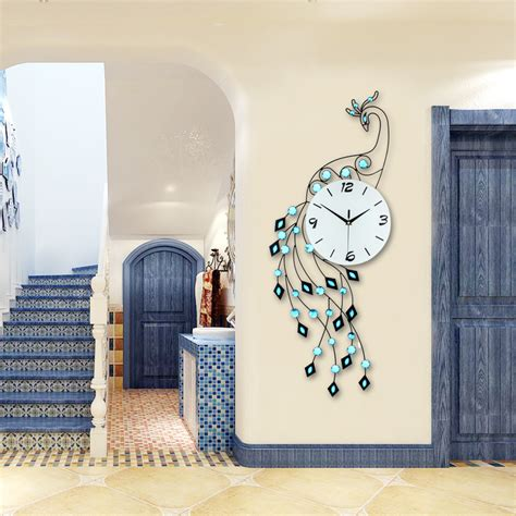 modern wall ls for bedroom fashion luxury peacock wall clock modern design europe