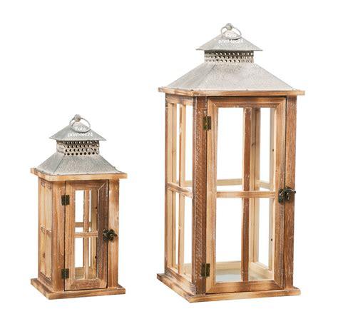 laterne kerzenhalter laterne firola holz braun kerzenhalter windlicht