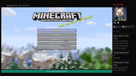 discord on ps4 live playing minecraft ps4 edition talking on