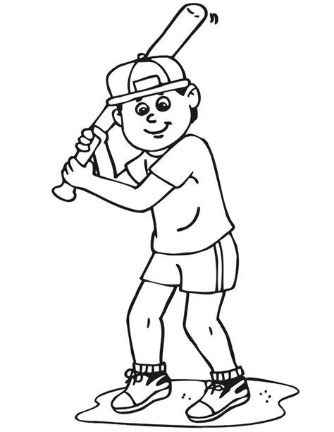 Baseball Boy Coloring Page | baseball bat coloring pages coloring home