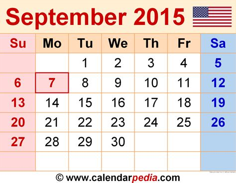 printable planner for september 2015 2015 september calendar new calendar template site