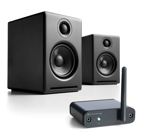 Black B1 audioengine a2 plus black b1 bundle 2 way speaker system w