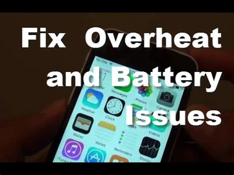 iphone 5c fix overheating and battery issues