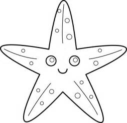 Starfish Outline by Starfish Line Free Clip