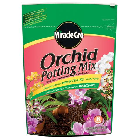 shop miracle gro 8 quart orchid mix soil at lowes com
