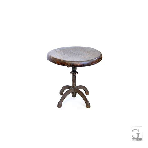 Small Adjustable Stool by Small Wood And Iron Adjustable Stool 14 Diam X 14 H 350