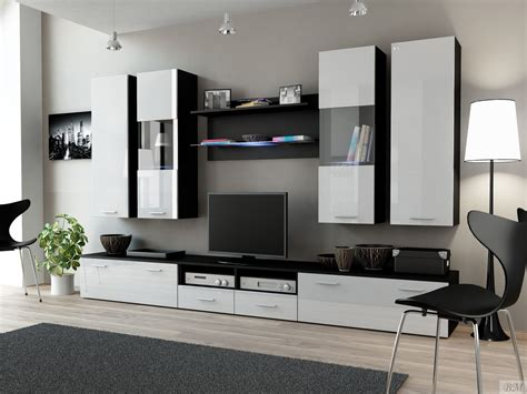 modern wall units dream 2 white black modern wall units poland cama