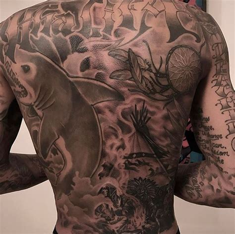 wiz khalifa back tattoo black studio