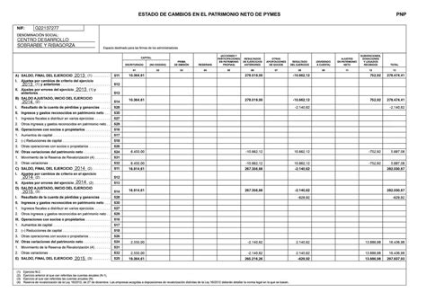 Estado Patrimonio Neto 2016 | cedesor balance p 233 rdidas y ganancias y estado de