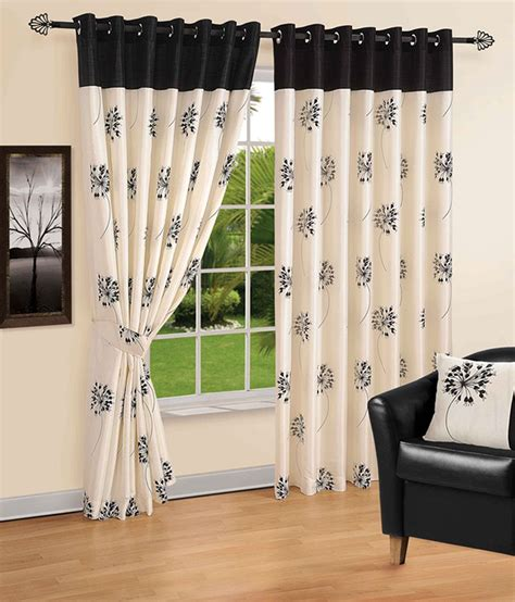 cream curtains with black flowers vellum cream black floral polyester set of 2 window curtains