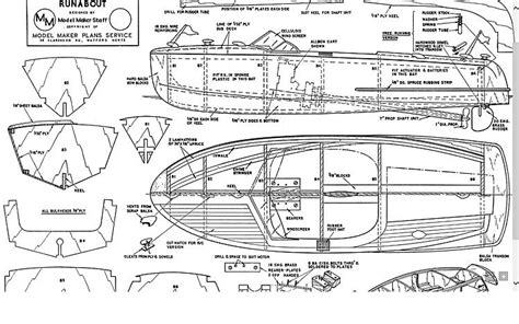 electric boat plans free runabout model boat plan plans aerofred download free