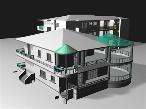 House building residential home, (.max) 3ds max software