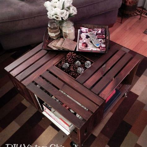 Vintage Wine Crate Coffee Table 17 Best Images About That S Clever On Iron Cleaning Clock And Crate Coffee Tables