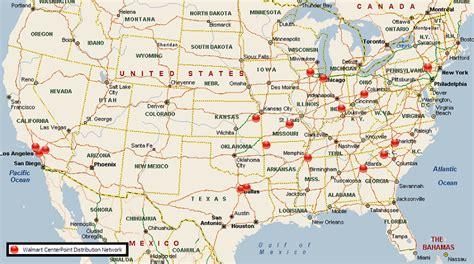 walmart locations map walmart distribution center network usa mwpvl