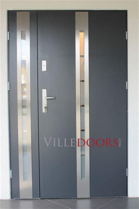 Stainless Steel Exterior Doors Stainless Steel Modern Front Entry Door Modern Front Doors New York By Ville Doors