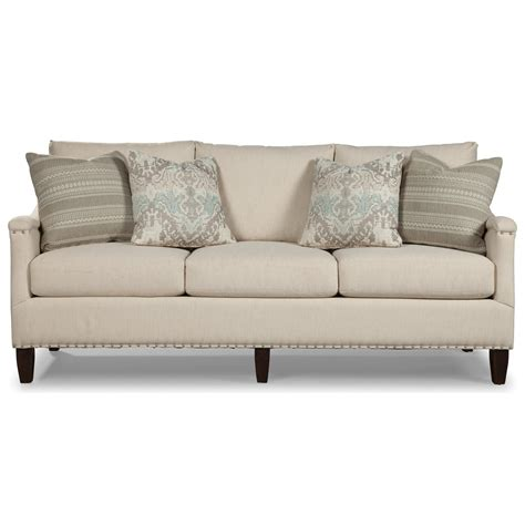 sofa with nailheads rachael home by craftmaster upstate saratoga sofa with