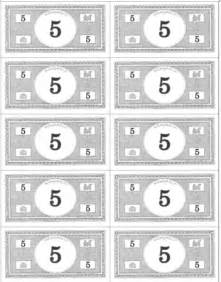 Classroom Money Template by Printable Money Templates Classroom Www Pixshark
