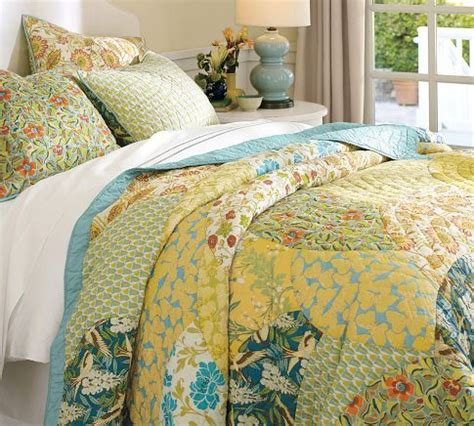 Pottery Barn Scalloped Organic Patchwork Quilt - scalloped organic patchwork quilt sham pottery barn i