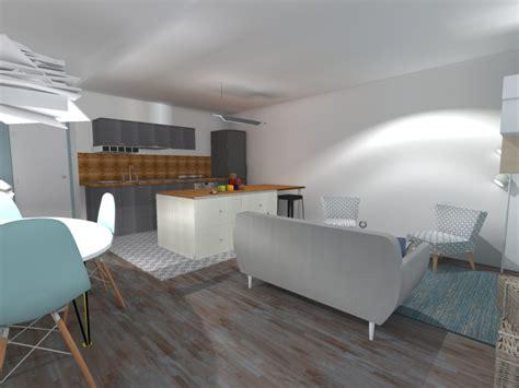 salon de cuisine cuisine salon 20m2 cuisine en image
