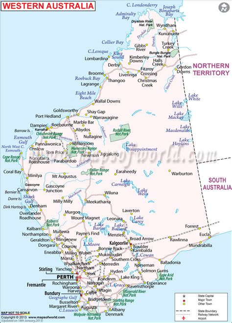 map of western australia western australia a road trip from broome to perth