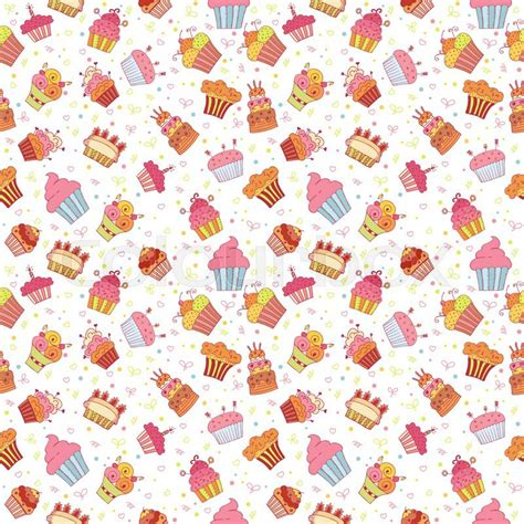pattern birthday cute cute seamless pattern with cupcakes birthday party