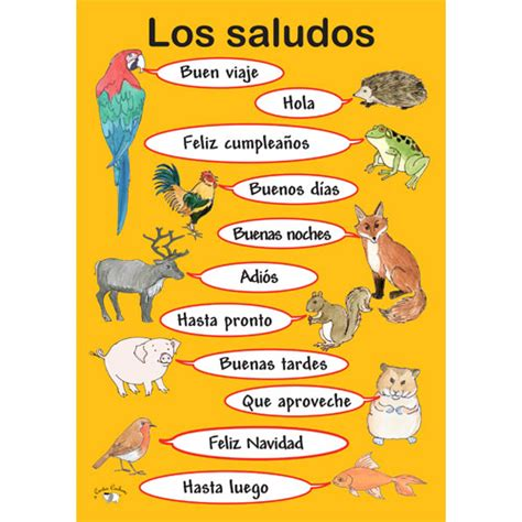 Greeting Poster poster a3 los saludos greetings poster in