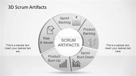 3d agile scrum artifacts powerpoint diagram slidemodel