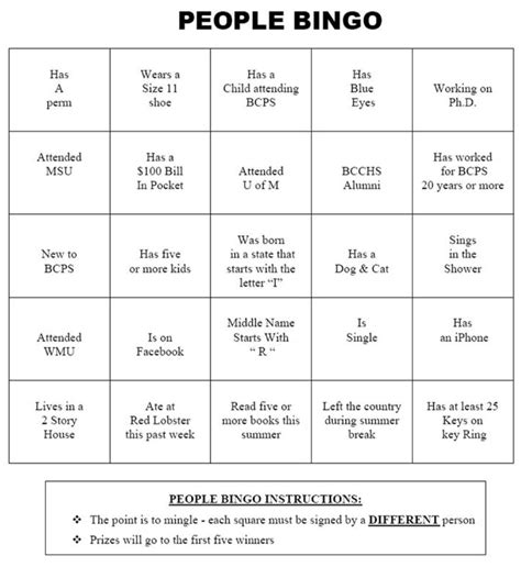 autograph bingo card template icebreaker bingo pictures to pin on pinsdaddy