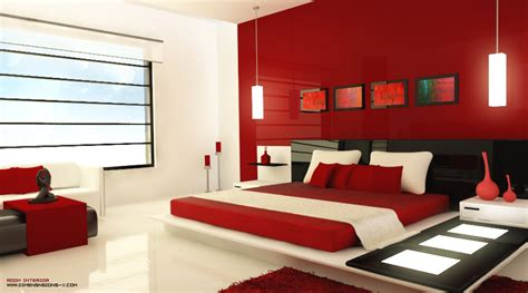 Red Black Bedroom | red and black bedroom design interior design