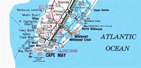 jersey shore map map of south jersey shore pictures to pin on pinsdaddy