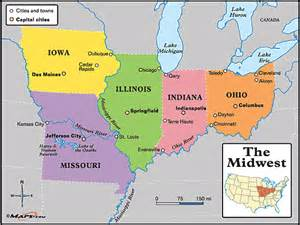 the midwest map by maps from maps world s