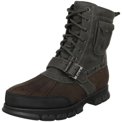 polo boots for polo ralph mens hamlin ankle boot in gray for