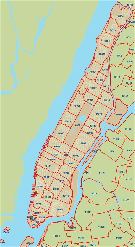 zip code map new york city new york city zipcode map manhattan new york mappery