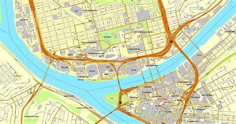 pittsburgh pa map pittsburgh pennsylvania us vector map adobe pdf