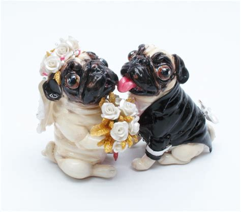 pug wedding cake pug cake toppers cake ideas and designs