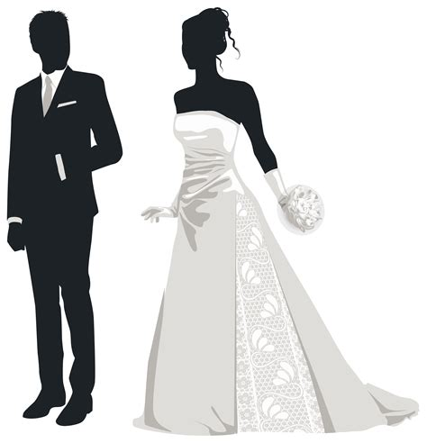 And Bridal Images by Groom Silhouette Wedding Clipart 42