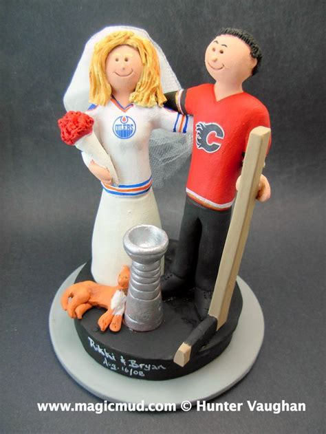 53 best Hockey Wedding Cake Toppers images on Pinterest