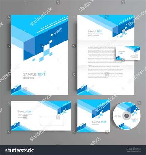 corporate identity template design geometric abstract