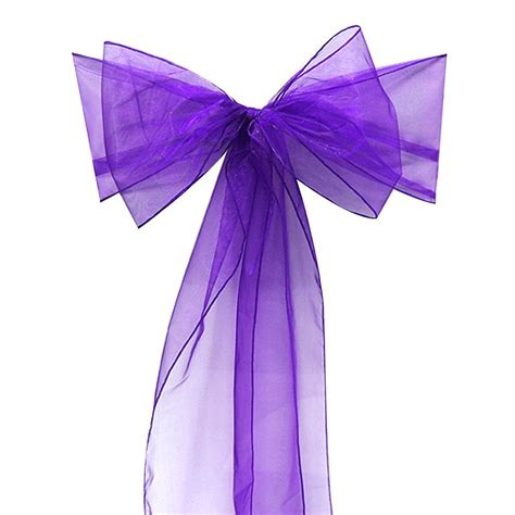 online get cheap purple chair sashes aliexpress com