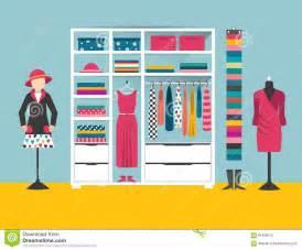 clothing store boutique indoor flat design vector
